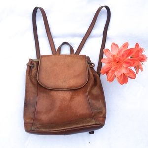 L.L.BEAN Brown Leather Backpack